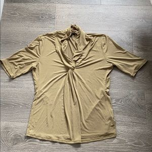 Front Knot Olive Top